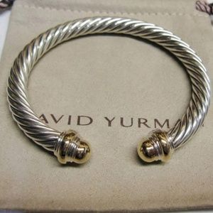 David Yurman 7mm Gold Dome Cable